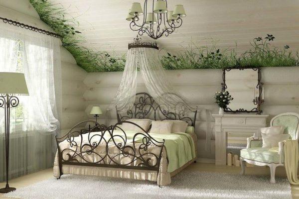 Неяркие светлые тона стиля прованс в спальне