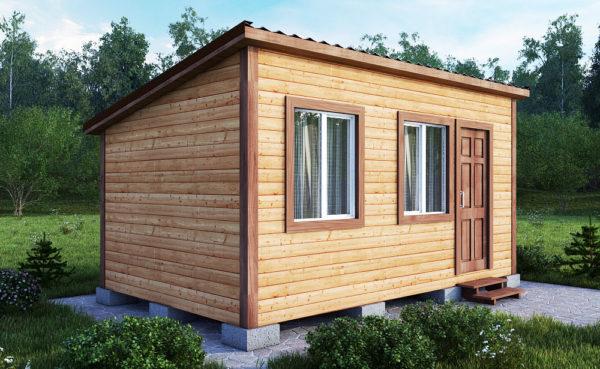 Небольшой домик из одного модуля - отличный вариант для дачи