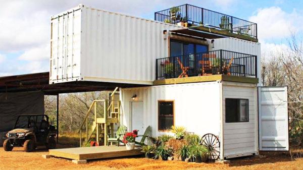 Модульный дом из 2 контейнеров разного размера -20 и 40 футов