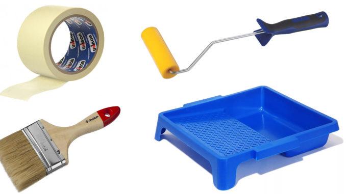 Набор малярных инструментов для покраски пола