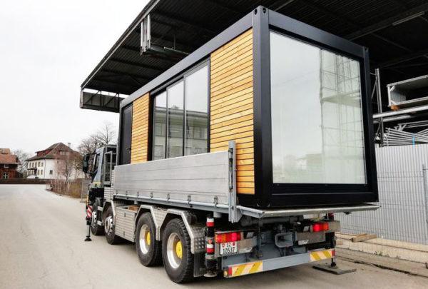 транспортировка дома из контейнера