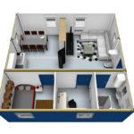 планировка дома из 3 40 футовых контейнеров