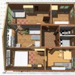 планировка дома из 3 контейнеров