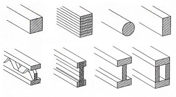 типы деревянных балок