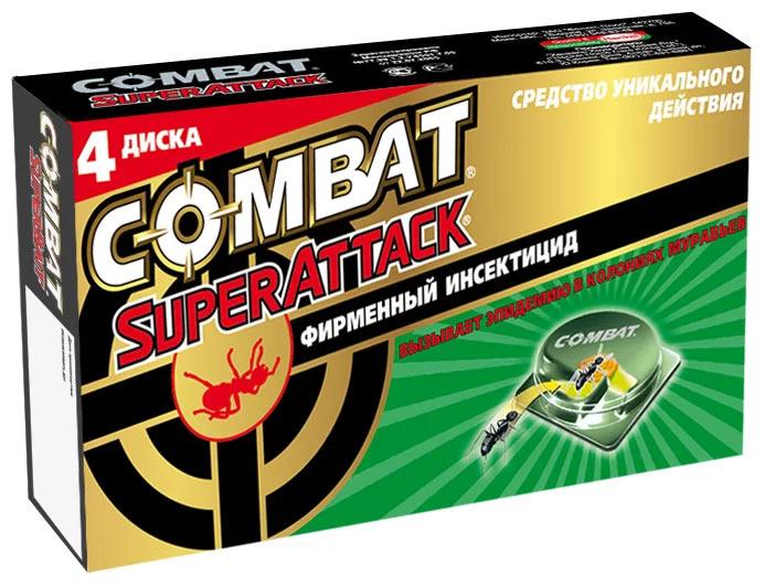Ловушка Combat SuperAttack от муравьев. Фирменный инсектицид вызывает эпидемию в колониях муравьев