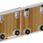 Нижнеопорная система шкафа-купе
