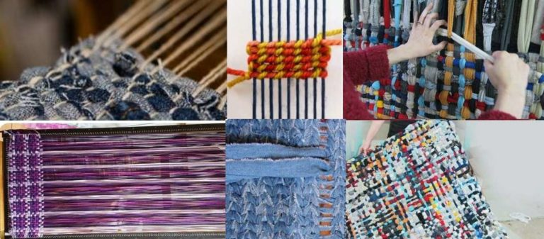 Некоторые приемы ткацких переплетений