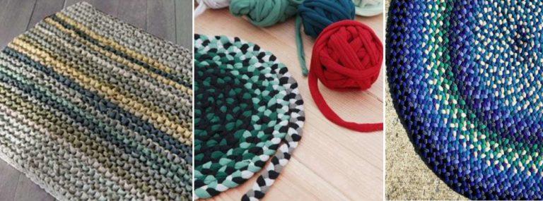 При должной сноровке самодельные коврики очень привлекательны и придают жилью индивидуальность