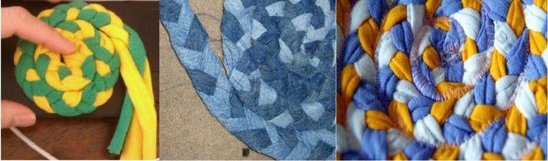 Один из способов изготовления самодельных половичков - плетение из кос
