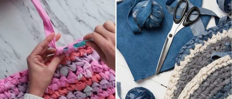 Вязаные своими руками коврики для пола крючком