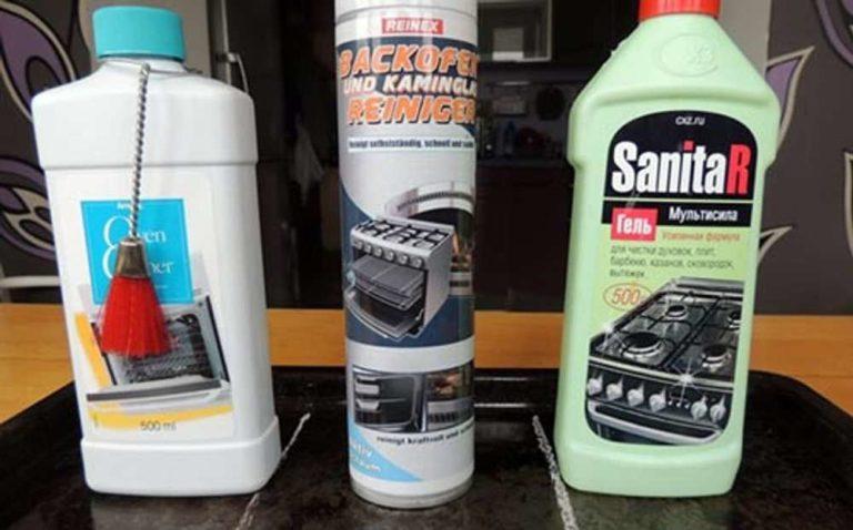 Средства для очищения духовок есть в любом хозяйственном магазине или магазине бытовой химии