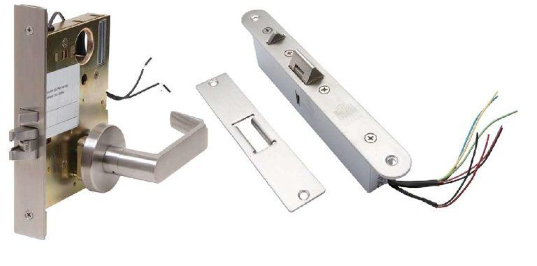 Если нужен автоматический замок на входную дверь, расссмотрите вариант врезного эл механического