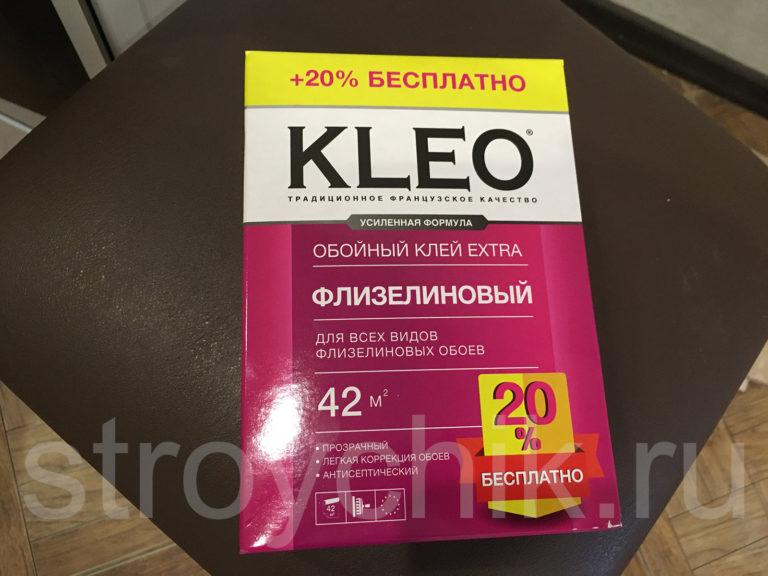 Обойный клей KLEO для всех видов флизелиновых обоев