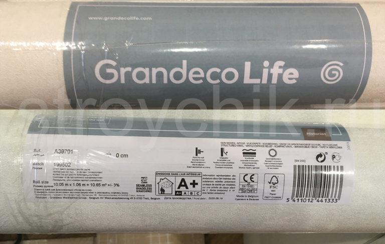 Согласно информации на этикете, обои Grandeco Life можно тереть щеткой!