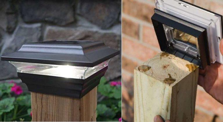 Пластиковые заборные крышки со встроенной посветкой