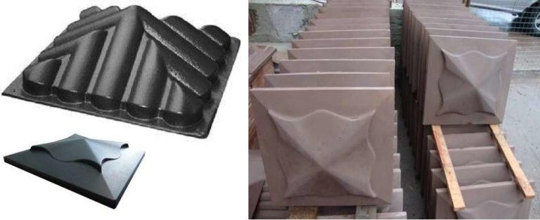 Делаем заборный колпак из бетона