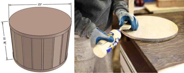 Как сделать круглый пуфик из фанеры
