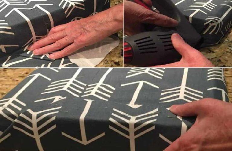 Как обтянуть пуф без шитья