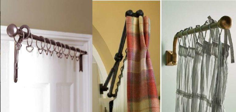 Как повесить шторы на двери? Используйте подвижные дверные карнизы!