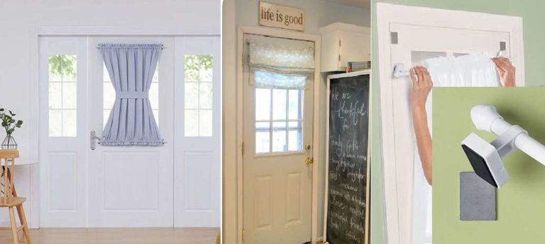 Двери в прихожей часто делают с большим стеклом. Для них есть специальные карнизы