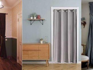 Тканевые шторы на двери и дверные проемы нуждаются в карнизах