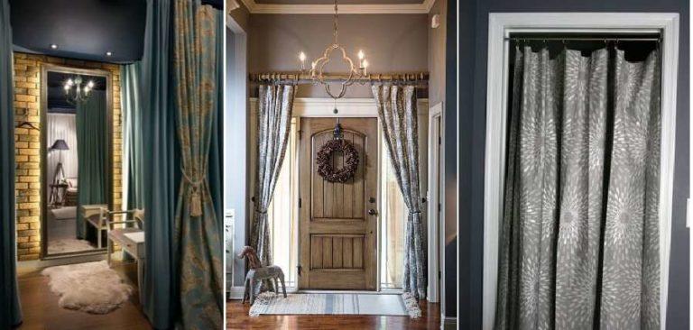 Трубчатые карнизы - простое решение для дверных штор