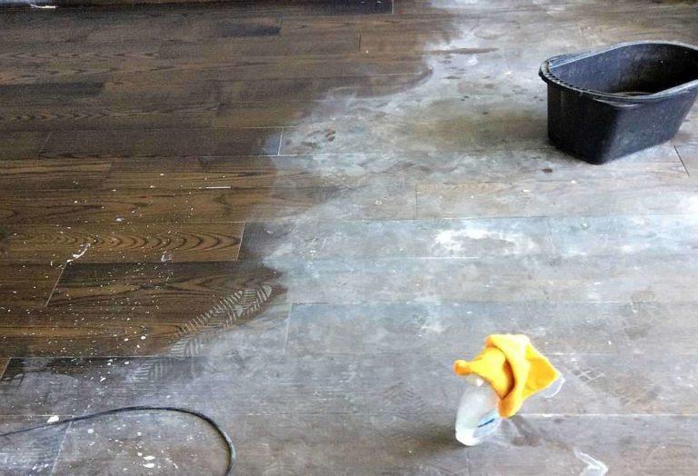 Отмываем пятна после ремонта