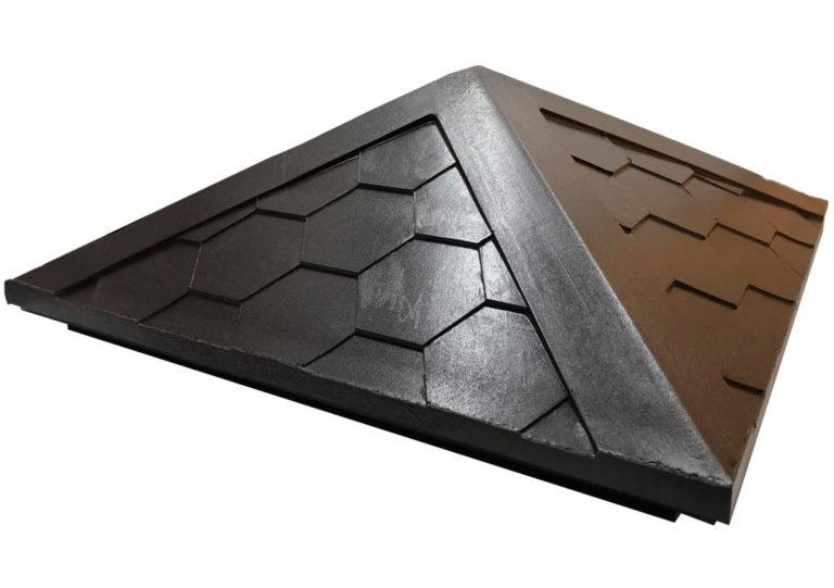 Колпак на столб полимерпесчаный 1.5 кирпич коричневый