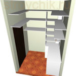 Эскиз гардеробной комнаты