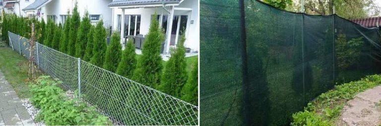 Как сделать забор из рабицы непрозрачным