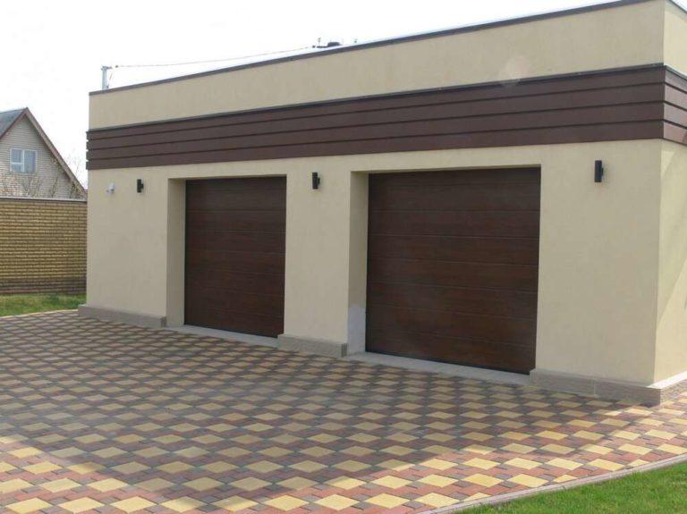 Двое или одни ворота в гараже на две машины