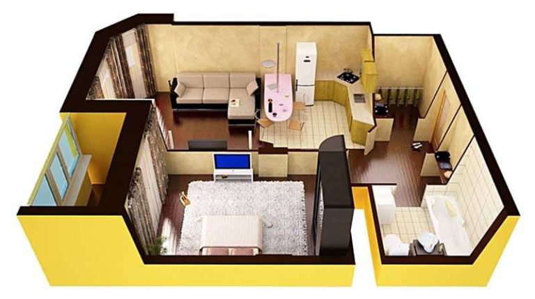 После перепланировки хрущевки порой получается неплохая квартира для маленькой семьи