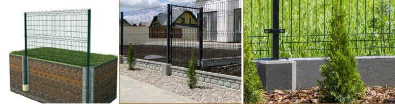 Как установить забор из гиттер сетки: на столбы, сборный или ленточный фундамент